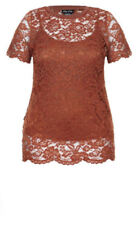 Cotton Blend Floral Stretch Tops for Women