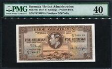 Bermuda 1937, 5 Shillings, P8b,PMG 40 EF