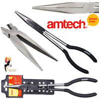 "11"" Extra Long Nose Plier Straight Bent Tip Mechanic Grip Hand Tool Amtech B0820"