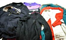 Wholesale Lot of 13 Women's Large Long Sleeve Winter Sweater/Cardigans/T-shirts