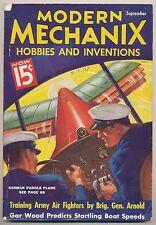 Vtg 30s Modern Mechanix Hobbies Inventions Magazine Sep 1936 Harley Davidson Ad