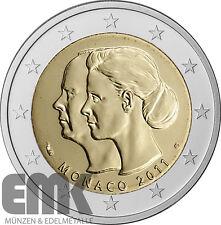 Monaco - 2 Euro 2011 - Hochzeit - Fürst Albert II. - Stempelglanz im Etui