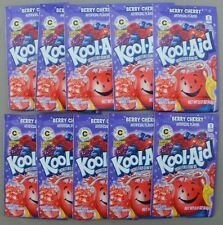 10 packets of KOOL-AID drink mix: BERRY CHERRY flavor, TEN pack, party beverage