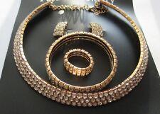 Robe De Mariage Bijoux Diamond Shine 3 Row cristal Choker Collier Set — C2