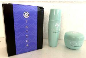 Tatcha The Water Cream 0.34 Oz+Deep Cleanse 0.85 Oz Set Cleanser Moisturizer NIB