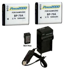 TWO 2 Batteries + Charger for Samsung ECTL205ZBPSU EC-TL110ZBPSUS ECTL110ZBPSUS