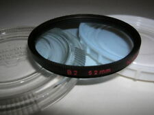 NIKON FILTER 52 MM B 2 BLUE WITH RED WRITTING ON RIM