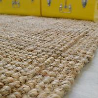Tapis en fibre de jute naturelle Bohème - Fibre végétale - Salon bureau chambre