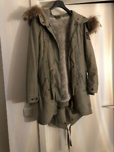 TRUE RELIGION MANTEL Parka Winter Herren Military Jacke Fell