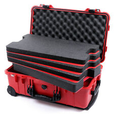 Red & Black Pelican 1510 Case with foam - 4 piece tool foam inserts Tool Control