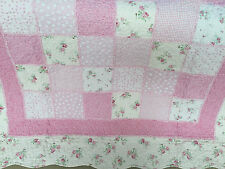 Shabby Chic Patchwork Throw Rug Vintage Florals Girls Mia Country Knee Rug