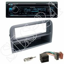 Kenwood KDC-300UV Radio+Fiat Croma 194 1-DIN Blende m.Fach anthrazit+ISO Adapter