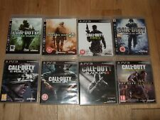 CALL OF DUTY PS3 BUNDLE 8 GAMES MODERN WARFARE BLACK OPS 1 2 WORLD AT WAR GHOSTS