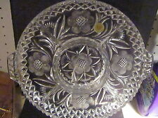 """House of Goebel 1985 West Germany Lead Crystal Relish Or Condiment Tray 13"""""""