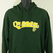 Oregon Ducks Hoodie Sweatshirt Pullover Duck Foot Soft J America Mens Sz L EUC