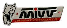 MIVV 3D Aluminium Heat Motorcycle Exhaust End Can Pipe Decal Sticker Emblem