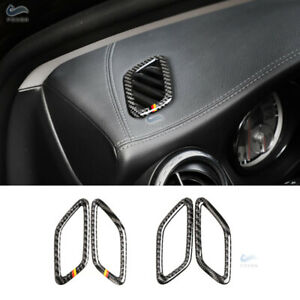 2pcs Carbon Fiber Dashboard Air Vent Cover  For Mercedes Benz A CLA GLA Class