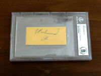 MUHAMMAD ALI CASSIUS CLAY BOXING HEAVYWEIGHT HOF SIGNED AUTO VINTAGE CUT BECKETT