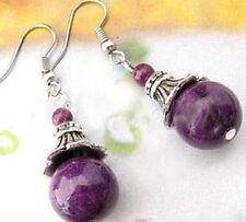 Tibet Silver purple Jade Earrings cheap price Boutique gift