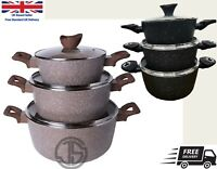 Cookware 6Piece Non Stick Cooking Saucepans Pots Set With Glass Lids