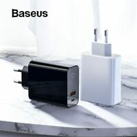 Baseus Digital Display Quick Charge 4.0 USB Charger Smart Power-Off Fast Charger