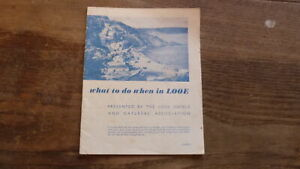 OLD 1950s LOOE CORNWALL HOTELS BROCHURE, WHAT TO DO WHEN IN LOOE