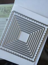 "Sizzix ""Big Shot FRAMELITS SQUARES COLLECTION"" NEW Stampin'UP! NIP set/8 dies"