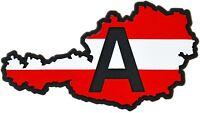 Austria A Landkarte Österreich Relief Schild 3D Emblem HR 14357 selbstklebend