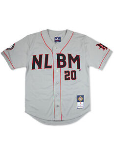 NEGRO LEAGUE COMMEMORATIVE BASEBALL JERSEY GRAY 2020 Edition NEGRO LEAGUE TOP