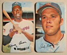 vintage 1970s baseball cards #25 John and #24 Hank Henry Aaron --  768