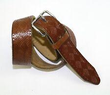 G149 CINTURA PELLE spessa marrone 80 cm memorizzare Motivo Ethno Boho Western Vintage