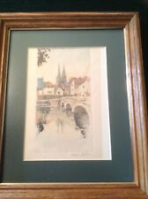 Vintage Notre Dame Print, Watercolor Sketch By Henri Richey