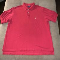 Brooks Brothers  346 Polo Shirt Men's Short Sleeve Button Up Golf Red Size XL