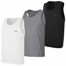 Oakley Solid Sleeveless T-Shirts for Men
