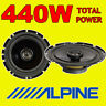"""ALPINE 440W TOTAL POWER 2WAY 16.5cm/6.5"""" SXE/SXV CAR/VAN DOOR SHELF SPEAKERS"""