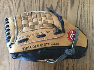 Rawlings Baseball Softball Glove Size 12 1/2 12.5 LH Throw RH Wear Model RBG36T