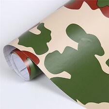 152cm*20cm Camo 3D PVC Vinyl Car DIY Wrap Sheet Roll Film Sticker Decal