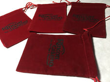 New listing Rincon Casino Valley Center Ca 4 small red felt empty gift bags souvenir items