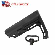MFT Minimalist Stock Tactical Rife Adjustable Scorched Mil-Spec Stock Black