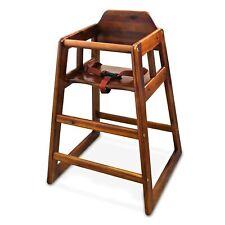 Winco Baby Hochstuhl mit Gurt - Stabile Standfüße, aus Massivem Walnuss Holz