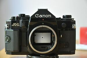 Canon A1 Camera Body with 35-105mm F3.5 135mm F2.5 lenses & Canon Power Winder