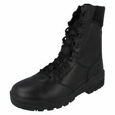 Magnum Cen Mens Black Leather Safety Boots (R23A)