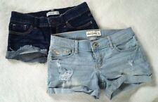 Lot of 2 Mini Shorts Abercrombie Kids Girls Sz 14 Light And Dark Denim