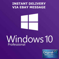 Microsoft Windows 10 Pro Key Activation Key Product Key License Code 32 / 64 bit