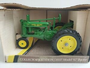 John Deere - ERTL 1937 Model G Tractor New In Box 1/16 Scale COMPLETE