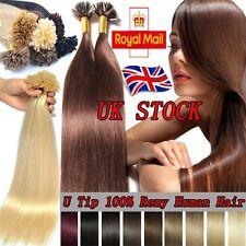 200S Indian Remy Human Hair Extensions Pre Bonded Nail U Keratin Tip 0.5 1g U143