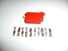 ISO - Stecker Gehäuse rot 10 polig 357 035 447 B & 10 Power Timer Kontakte 2,8mm
