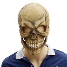Skeleton Scary Skull Full Head Mask Halloween Cosplay Party Prop Horror Latex