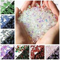 50pcs 6x8mm Crystal Glass Top Drilled Pendant Loose Petal Beads Jewelry Making
