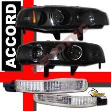 1992 1993 Honda Accord Projector Headlights + Bumper Signal Lights RH + LH